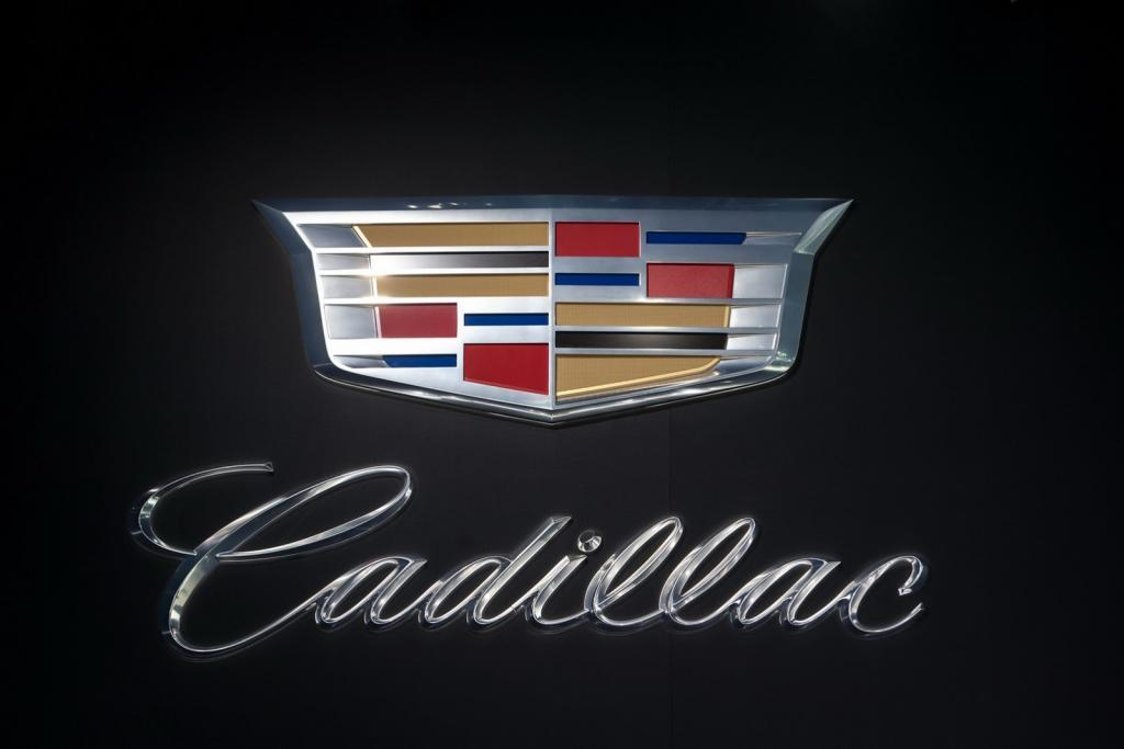 The new Cadillac crest on display Tuesday, January 14, 2013 at the North American International Auto Show in Detroit, Michigan. (Photo by Jose Juarez for Cadillac)